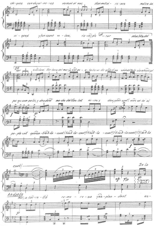 Himno a Alicante, partitura 2 de 3